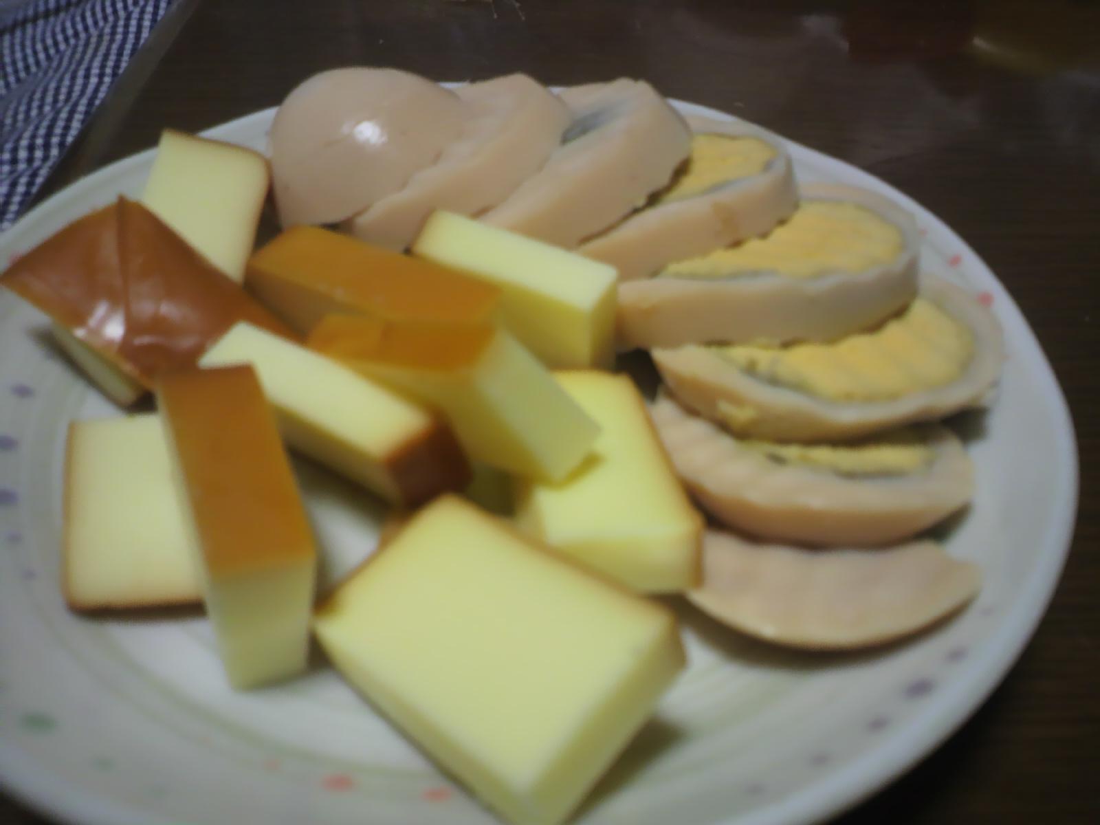スモークチーズとスモーク卵
