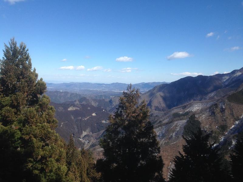 三峰山から