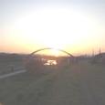 夕日の綺麗な街